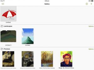artrage for ipad gallery view