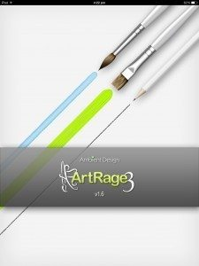 ArtRage for iPad opening screen