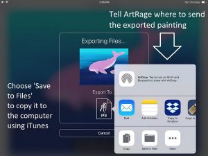 artrage ios export apps