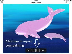 artrage ios export gallery painting view