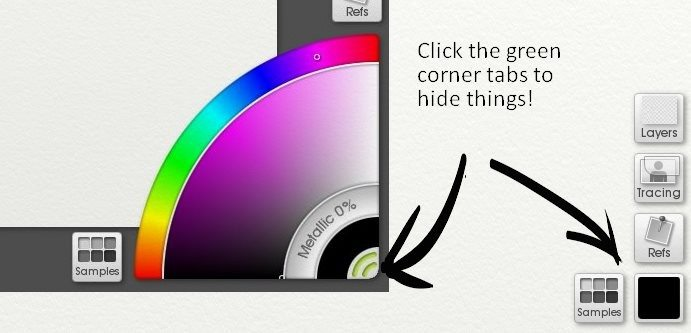 artrage lite hide the corner pods
