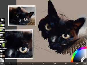 Black Cat Progress Screenshot 2 by Shelly Hanna