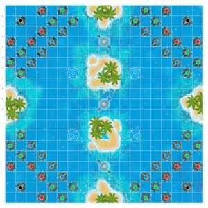 Lagoon Map Stephane Perriard Board Game ArtRage