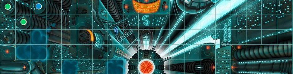Close up on the Vertigo game board design.