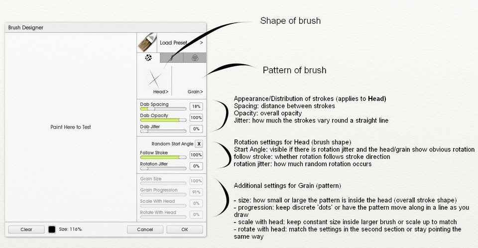 brush designer 1 ArtRage 5 Custom Brush tutorial by Sav Scatola