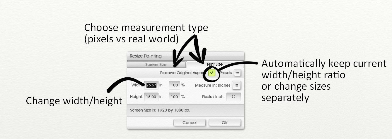 How to choose a Canvas Size in ArtRage - ArtRage