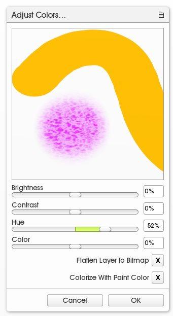 color layer adjust filter artrage 5