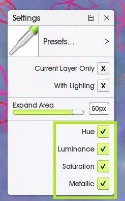 color sampler hue luminance saturation