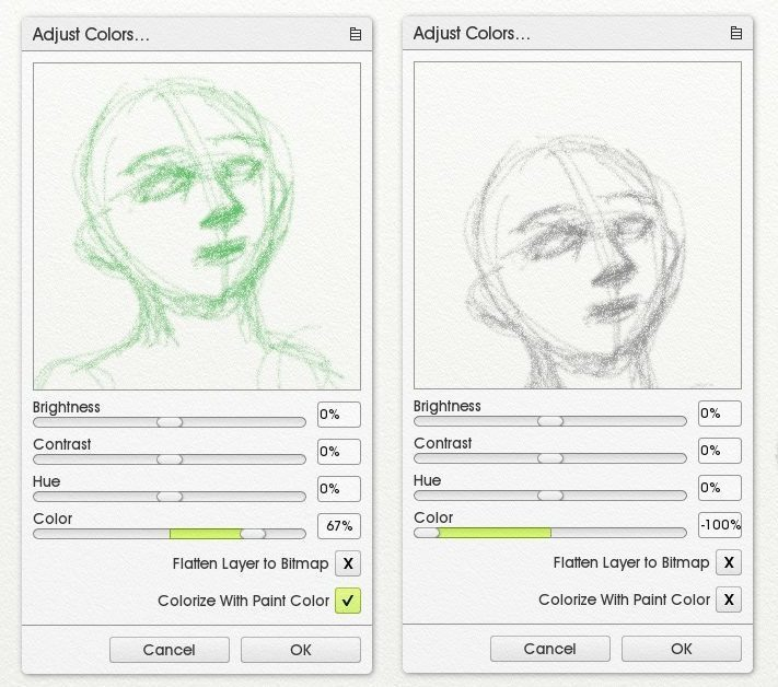 colorize grayscale sketch adjust layer colors artrage 5