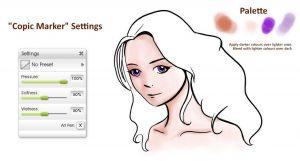 colouring felt pen copic marker pen manga tutorial