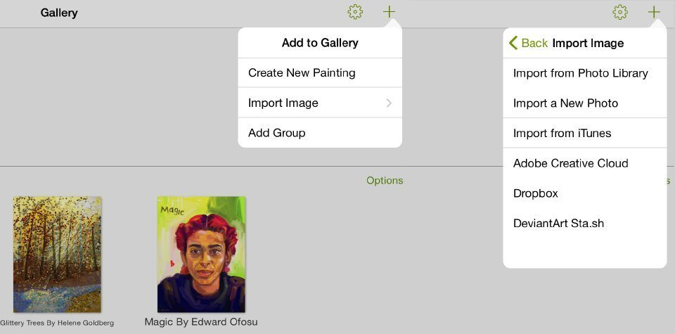 Create and import new painting artrage for ipad