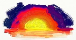 digital oil sunset