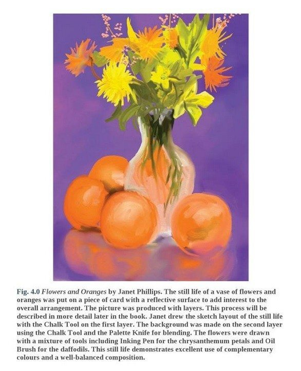 drawing and painting on the ipad diana seidl flowers and oranges