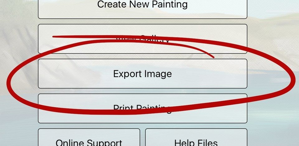 Export from painting ArtRage for iPad 2.0