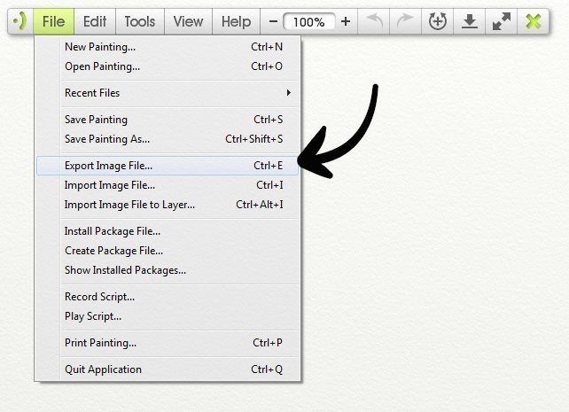 How to export / upload painting files? - ArtRage