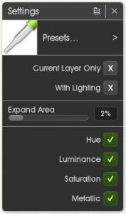 Color Picker settings