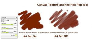 felt pen canvas texture manga tutorial