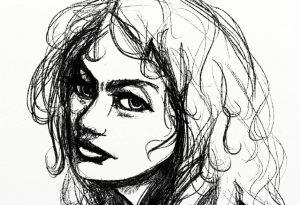 felt pen portrait sketch artrage