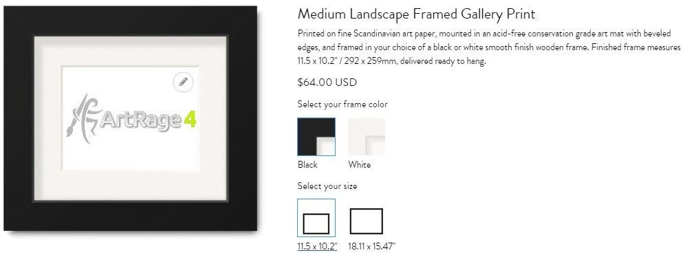 framed gallery print
