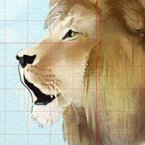 grid lion artrage