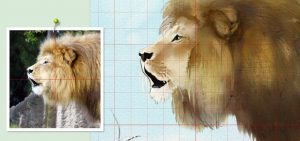 The adjustable grid can be used on paintings and references.