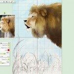ArtRage 4.5 interface with grid