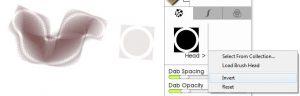 head invert head settings custom brush designer ArtRage 5