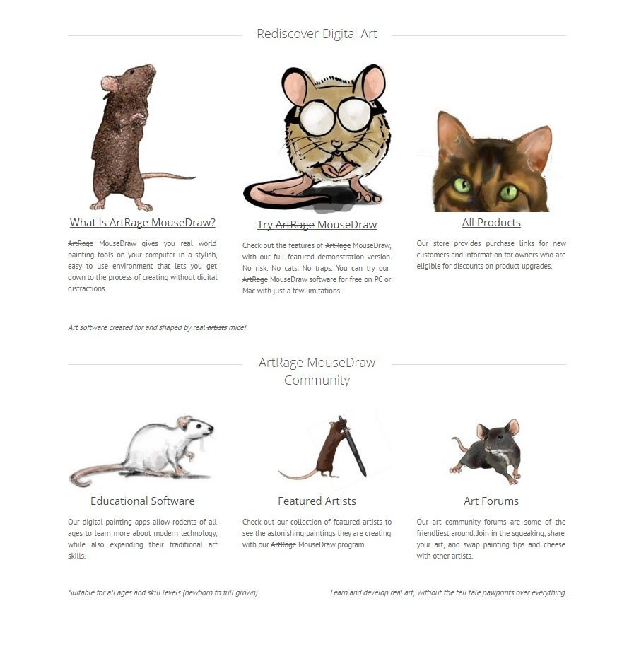 mice april fools homepage