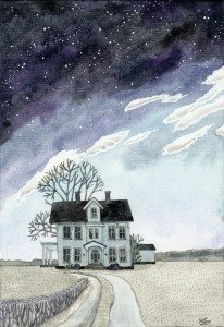 """House under the Starry Skies"" by Yuliyart.blogspot.com"