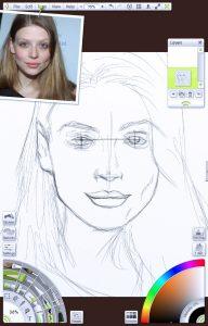 img 1 - foundation sketch portrait tutorial by Paul Hinch-Worman