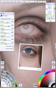 img 11 - Pen tool for lashes portrait tutorial by Paul Hinch-Worman