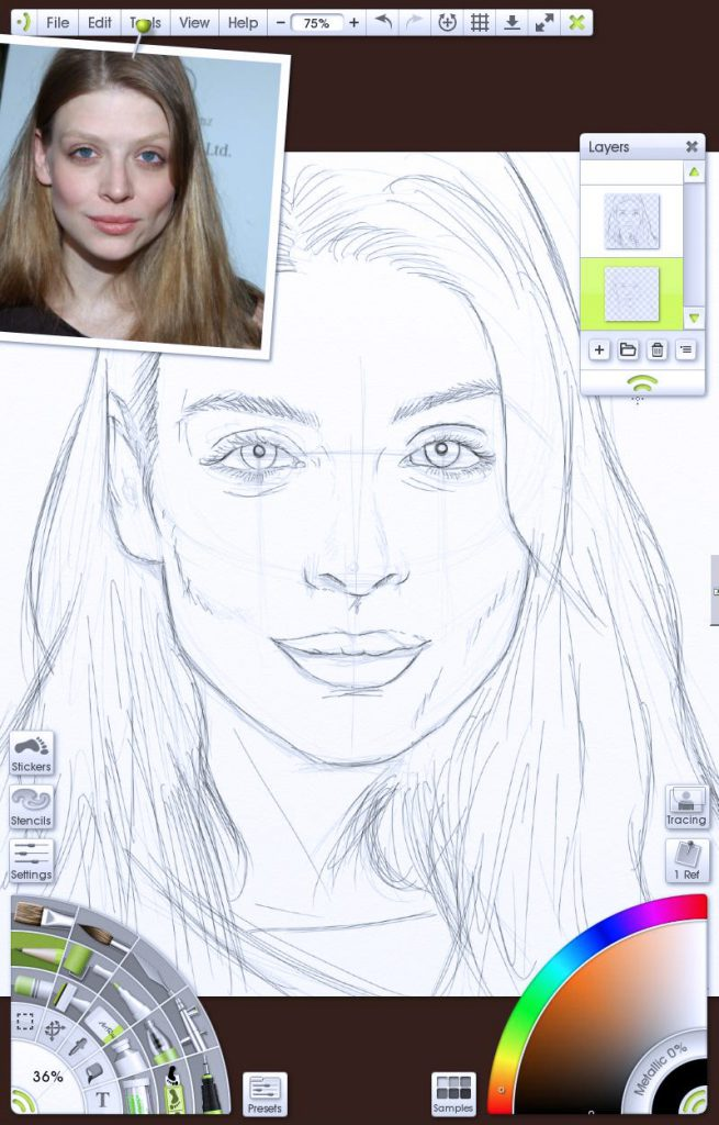 img 2 - sketching more portrait tutorial by Paul Hinch-Worman