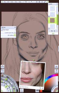 img 6 - Base colour portrait tutorial by Paul Hinch-Worman