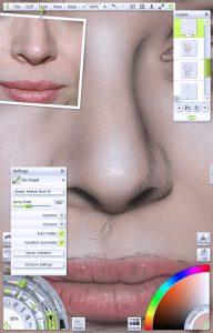 img 9 - Sticker textures portrait tutorial by Paul Hinch-Worman