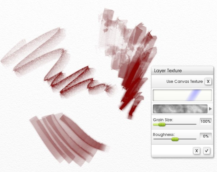 individual canvas layer textures