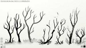 screenshot inked trees in artrage 4