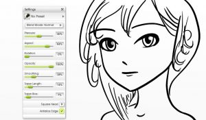 inking flat canvas manga tutorial