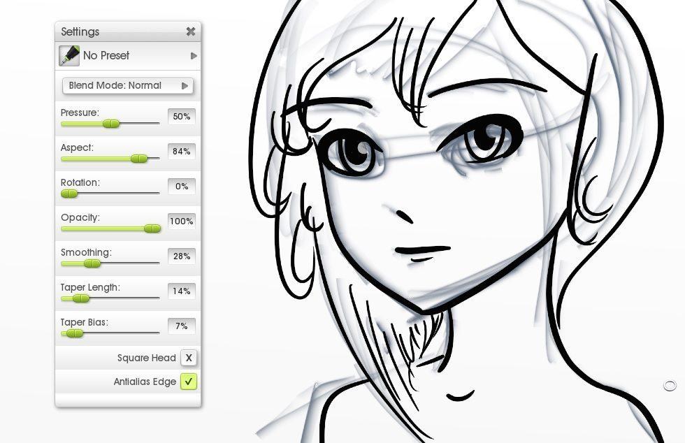 inking over pencil flat canvas manga tutorial