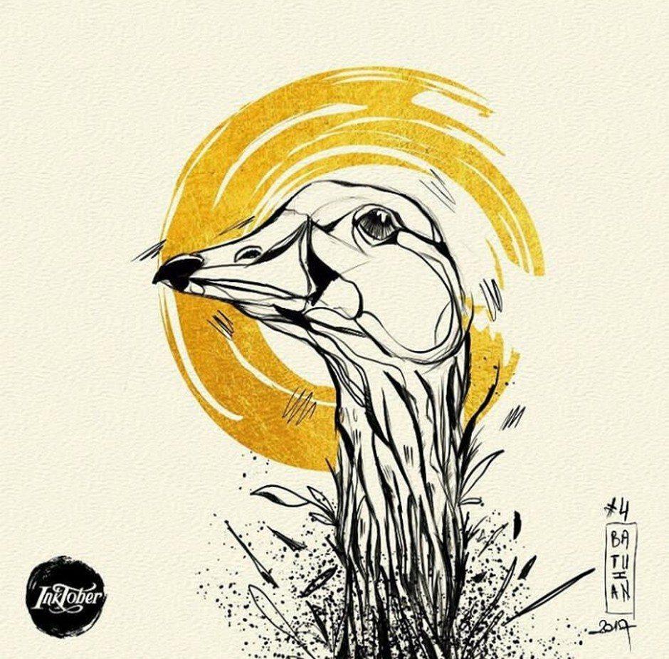 Inktober Bird by Batuhan Bayrak