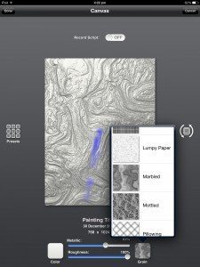 ArtRage for iPad newcomer screen options