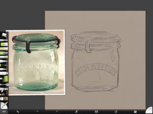 Cohansey Jar Sketch by Shelly Hanna (small)