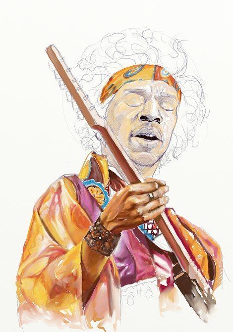 Jimi Hendrix WIP by Teoman Mete CAKICI