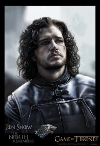 Jon Snow from Game of Thrones by Teoman Mete CAKICI
