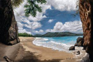 beach landscape - Digital by Nihar Das