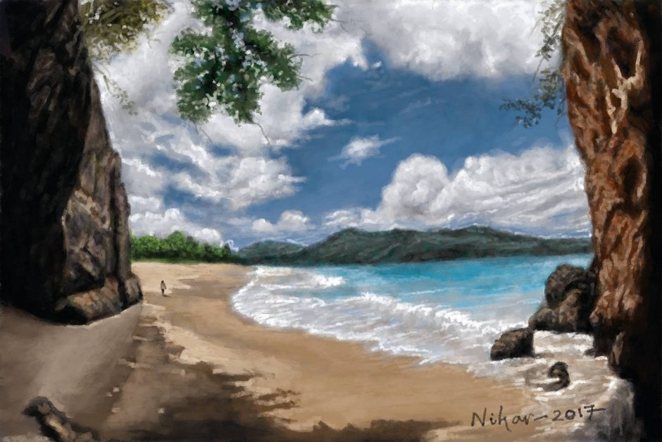 beach landscape - Digital by Nihar Das