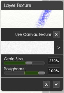 layer texture menu in ArtRage 5