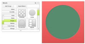 make simple shape stencil circle artrage 5