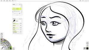manga ink pen sketch line art artrage lite small