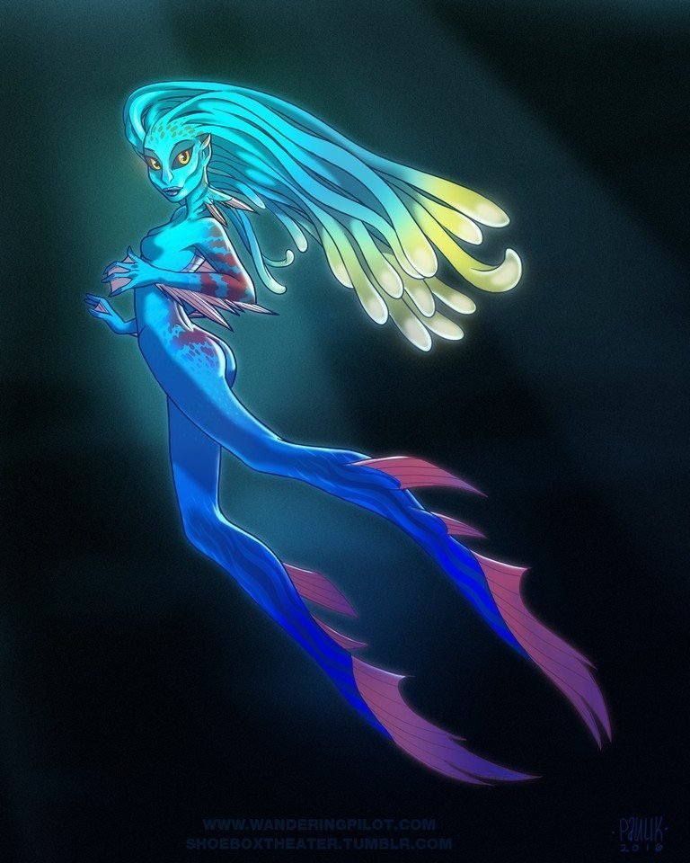 mermaid_144 artrage art by Mark Paulik