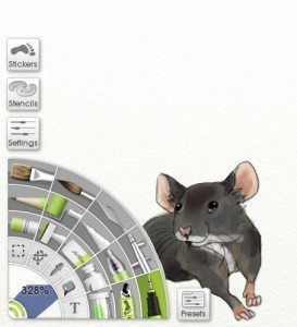 drawn mouse art tools